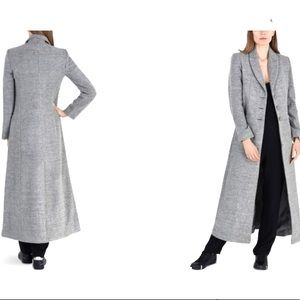 Armani Exchange Tailored Maxi Coat Gray Size: S